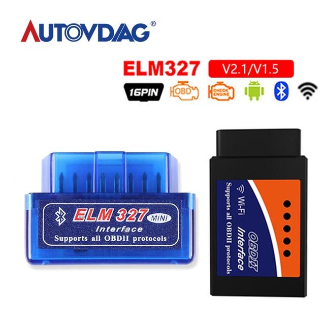 Special Offers OBD mini ELM327 Bluetooth Wifi OBD2 V2.1 V1.5 Auto Scanner OBDII Car ELM 327 Tester Diagnostic Tool for Android Windows Symbian