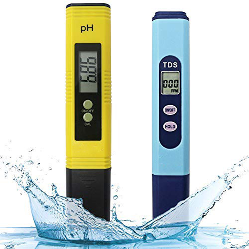 Water Quality Test Meter,Ph Meter Tds Meter 2 in 1 Kit with 0-14.00Ph and 0-9990 Ppm Measure Range for Hydroponics,Aquariums,D