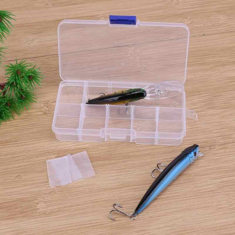 ใหม่ 10 ช่องกล่องเก็บตกปลา Lure สแควร์ Fishhook กล่องช้อนตะขอเบ็ดกล่องปลากล่องอุปกรณ์เสริม