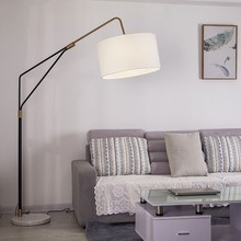 Nordic LED Marble Floor Lamps Bedroom Living Room Restaurant Lighting Decor Lights Bedside Standing