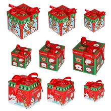 3Pcs/lot Christmas Gift Box Candy Cookies Packing Party Xmas Scene Ornament Chtristmas Decoration for home