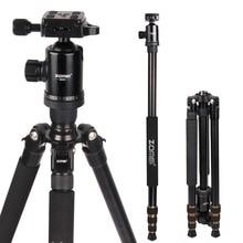 Тренога Zomei Z668, профессиональное фотографическое оборудование для путешествий, компактный алюминиевый сверхмощный штатив Монопод и Шаровая головка для цифровой камеры DSLR