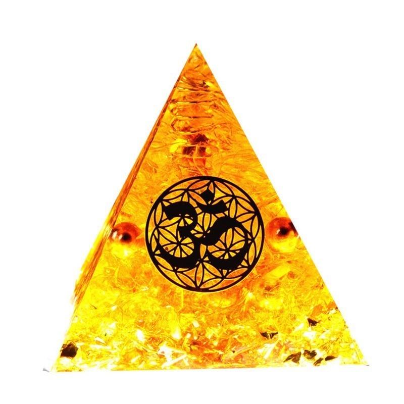 AURA REIKI Orgonite Auras High Frequency Energy Pyramid Transit Grows  Change Fortune Field Yoga Meditation Gold Decoration Gift