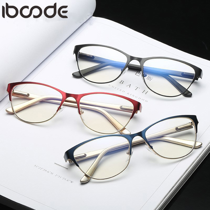 iboode Reading <font><b>Glasses</b></font> Women Men Retro Half Frame Presbyopic Eyeglasses Anti-fatigue Clear Lens Hyperopia Eyewear+<font><b>1.0</b></font> To +4.0 image