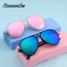 Iboode-lunettes De soleil pour enfants, couleur bonbon, ultralégère, pour garçons et filles, UV400