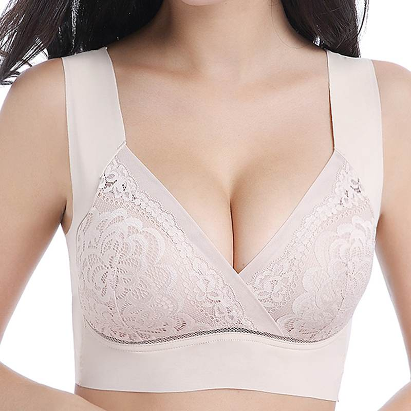 Sexy Women Bra Gather Lace Thin Up Wireless Brassiere Fashion Shockproof Breathable Ladies Bra Underwear For Women Plus Size