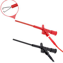 Red/Black 1Pcs P5004 Professional Insulated Quick Test Hook Clip High Voltage Flexible Testing Probe Instrument Accessories(China)