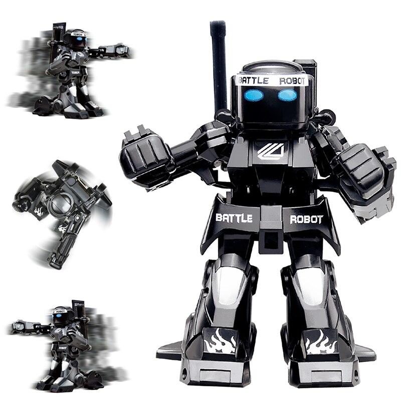 Schlacht RC Roboter 2-Kanäle 2,4 ghz Körper Sinn Fernbedienung Spielzeug Roboter Mit Boxen Sound Und Bezeichnend Licht modell Kinder Geschenk