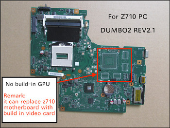 Free Shipping NEW For Lenovo IdeaPad Z710 DUMBO2 REV2.1 Notebook motherboard HD 4600