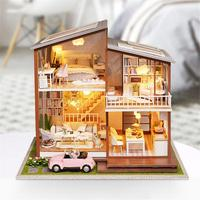 DIY Model Dollhouse Furniture Miniature Doll House Home Decor Christmas Holiday Birthday Gift For Children