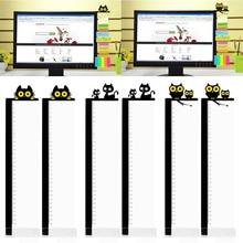 1 пара милый мультфильм акриловые сообщения заметки вкладки доска с линейкой для компьютера PC ноутбук телевизор мониторы экраны
