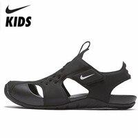 NIKE SUNRAY PROTECT 2(PS) Kids Original 2019 Summer Soft Light Children Outdoor Comfortable Sandals #943826 001