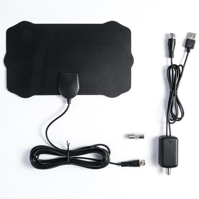 Indoor HD Signal Verstärker Digital TV Antenne HDTV 4 K 50 Meilen Reichweite 25DB Für VHF UHF TV Signal Empfänger 120 Miles Audio Kabel