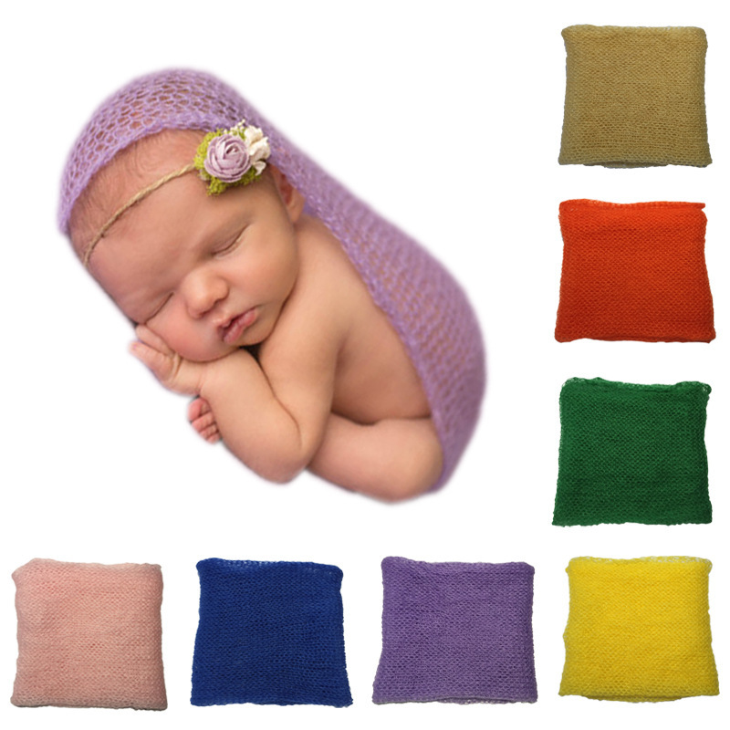 Newborn Photography Props Baby Knitted Mohair Wrap 40x60cm Photography Blanket Babies Accessories Wraps Newborn Baby Photo Props