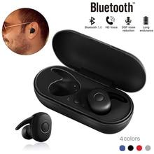 DT-1 TWS Mini Bluetooth Earphone V5.0 True Wireless Earbuds Stereo Waterproof Sport Earphone with Microphone Charging Box blitzwolf bw fye1 bluetooth v5 0 tws true wireless sport earphone tws earbuds hi fi stereo dual microphone w charging box