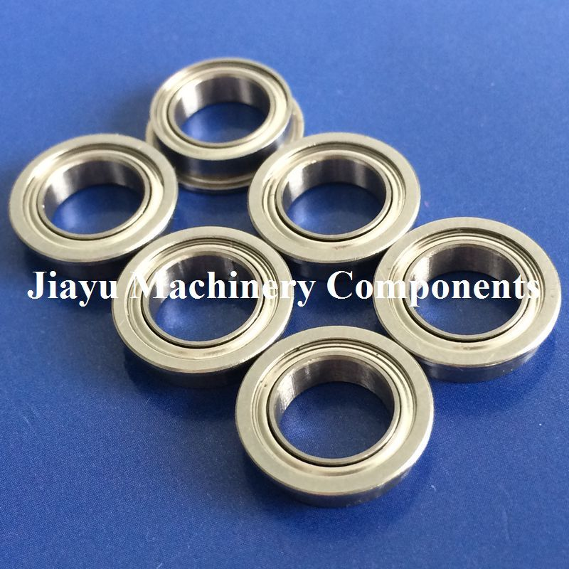 Free Shipping 50 PCS SMF126ZZ Flanged Bearings 6x12x4 mm Stainless Steel Flange Ball Bearings DDLF 1260ZZ