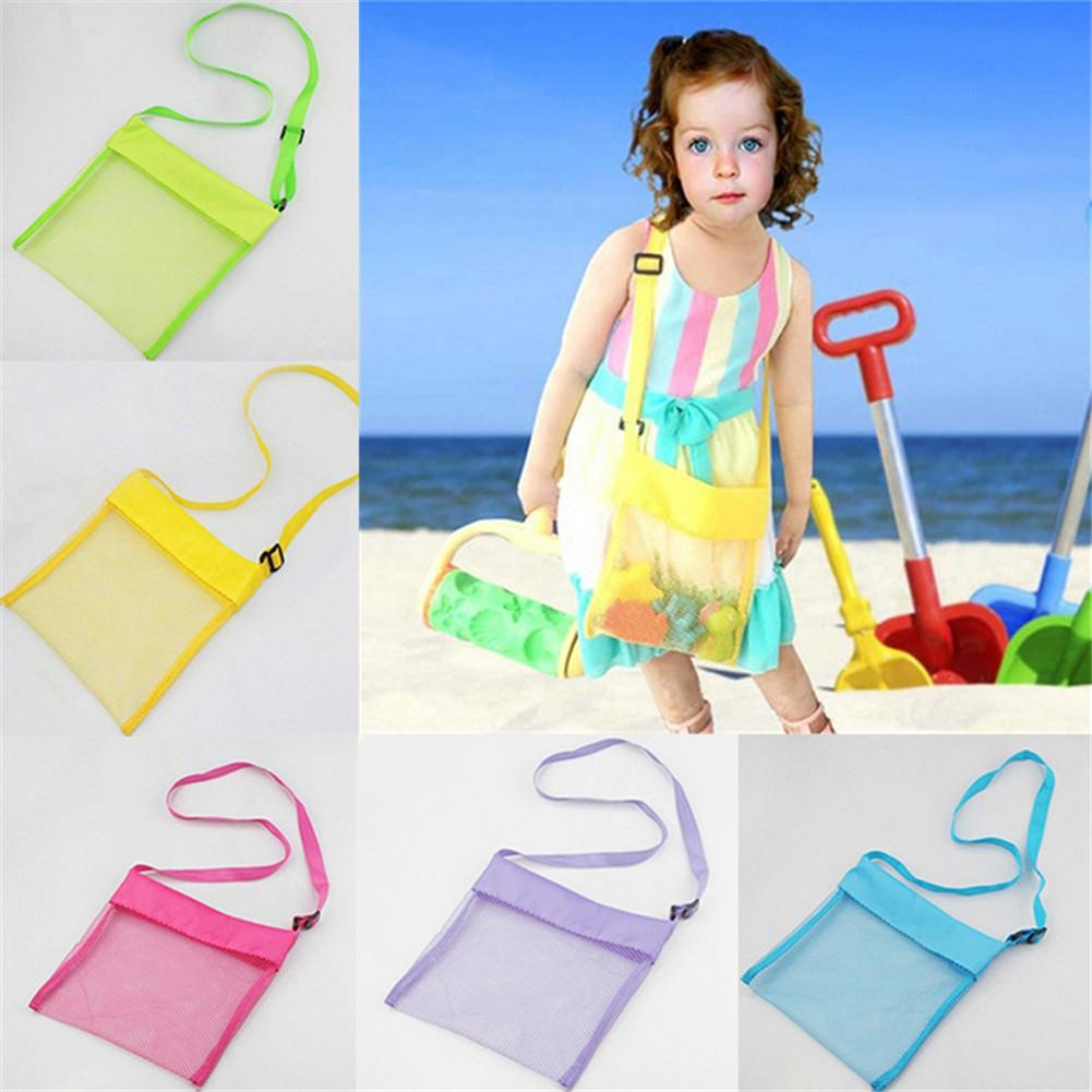 Portable Baby Toys Storage Toys Pouch Tote Mesh Kids Storage Toys Storage Sand Away Beach Mesh Tool Shell Collection Net Bag