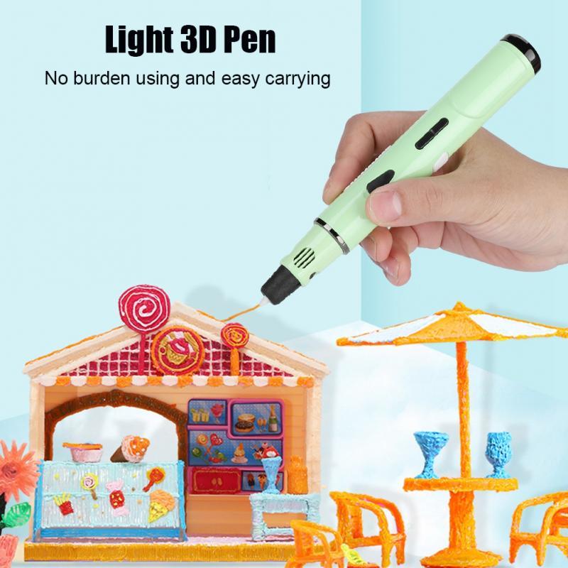 Heerlijk 3d Afdrukken Tekening Pen Modellering Filament Abs/pla Printer Tool Set Groen Us/eu/uk/au 110-240 V 3d Pen Helder In Kleur