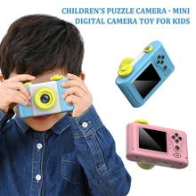 Childrens HD Digital SLR Camera 1.5inch 6X Zoom 2 Million Pixels Micro Mini Camera With USB2.0 TF Port Puzzle Toy For Kids Gift(China)