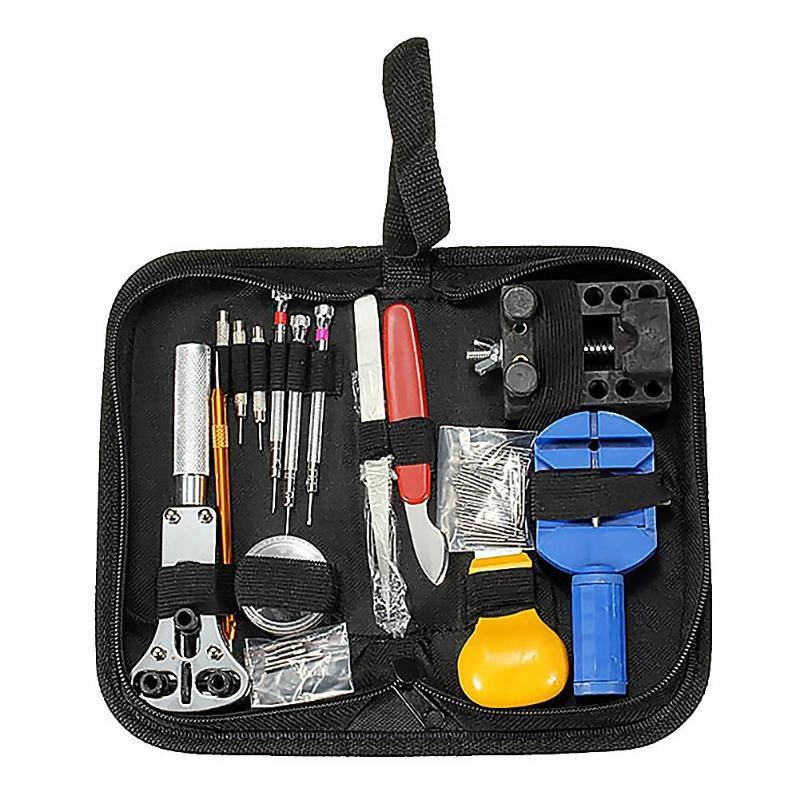 144 pcs montre outils Kit montre ouvreur dissolvant ressort Bar réparation Pry tournevis réparation outil horloger outils pièces