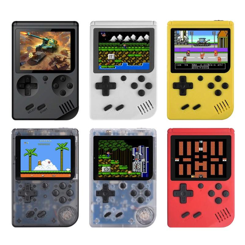 Freeshipping RS-6A Retro Mini Handheld Game Console 8-Bit 3.0 Inch Color LCD Screen Kids Game Player Portable Built-in 168 Games