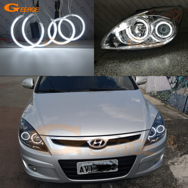 For Hyundai I30 2007 2008 2009 2010 2011 Hatchback Wagon Headlight Excellent Ultra Bright Illumination CCFL Angel Eyes Kit