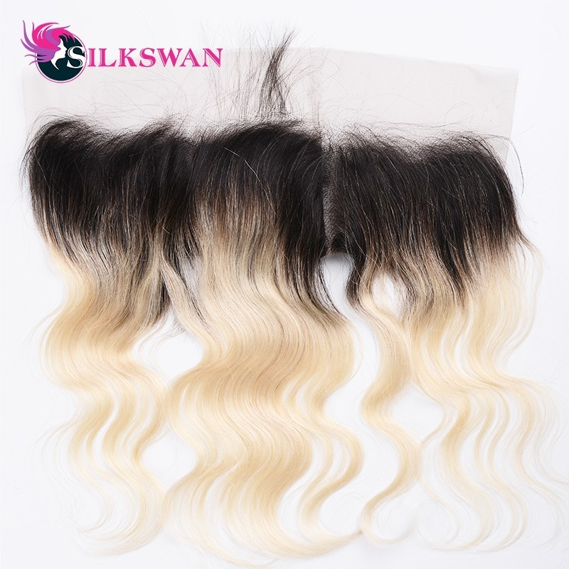 Silkswan Brazilian Body Wave Frontal Bleached Knots With Baby Hair 100 Remy Human Hair 13x4Lace Frontal