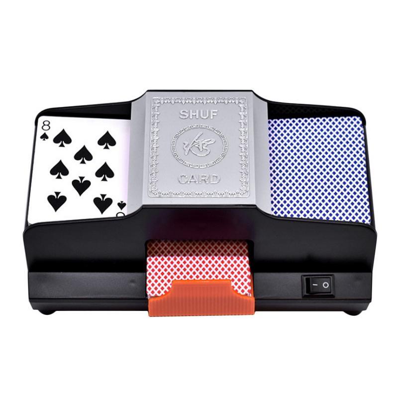 Shuffler de carte professionnel 1-2 ponts haute vitesse automatique en plastique Shuffler Machine à jouer carte Shuffler pour les jeux de cartes de Poker