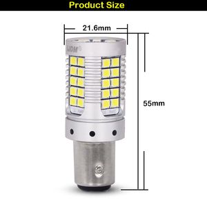 Image 2 - iJDM Canbus 1157 LED No Hyper Flash 21W Amber yellow P21/5W BAY15d LED Bulbs For Turn Signal Lights DRL Brake/Tail Lig Parking