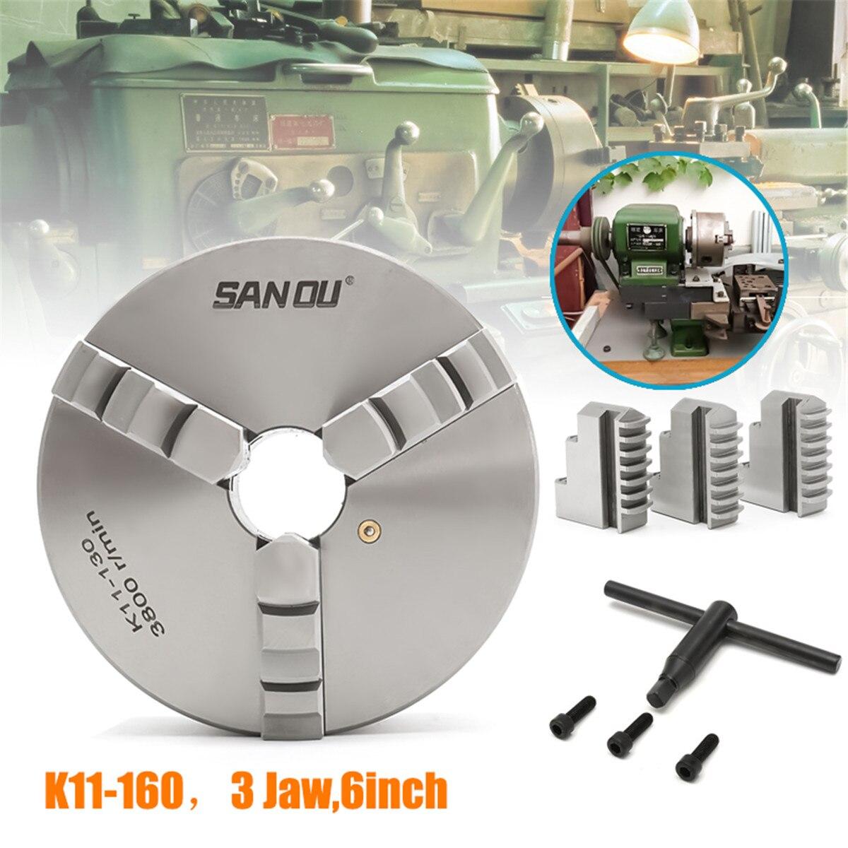 Mandrin de défilement de tour à 3 mâchoires auto centrage durci pour les outils de pliage du sud K11-130