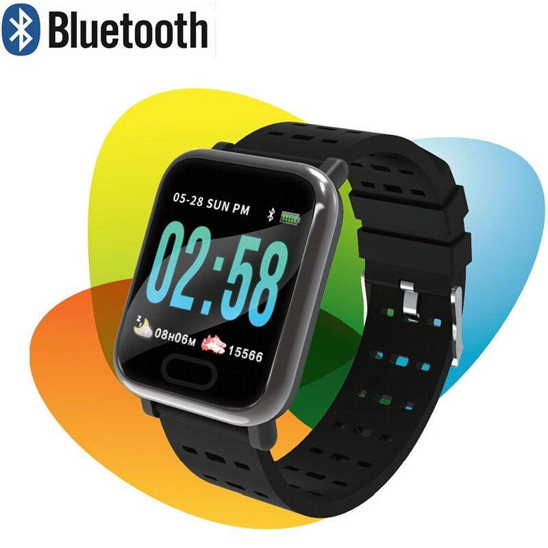 Smart Horloge Hartslag Bloeddrukmeter Sport Fitness Tracker Armband Yu