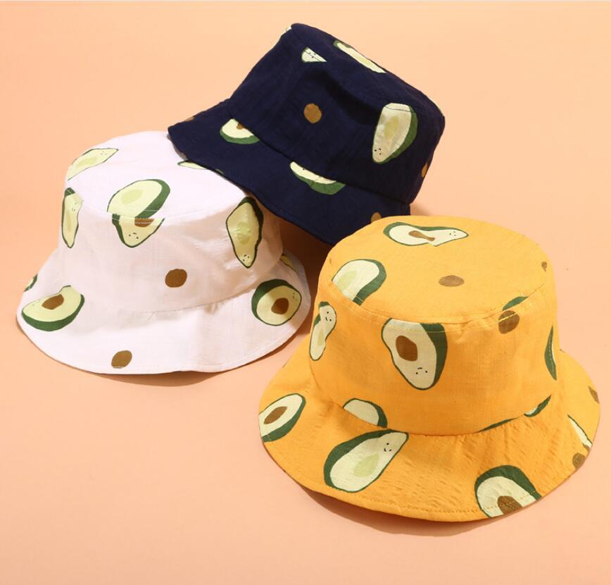 b4451c4b04bec6 2019 Avocado Bucket Hat for children Vegan chapeau fashion outdoor travel  fishing hiking hat Bob Caps