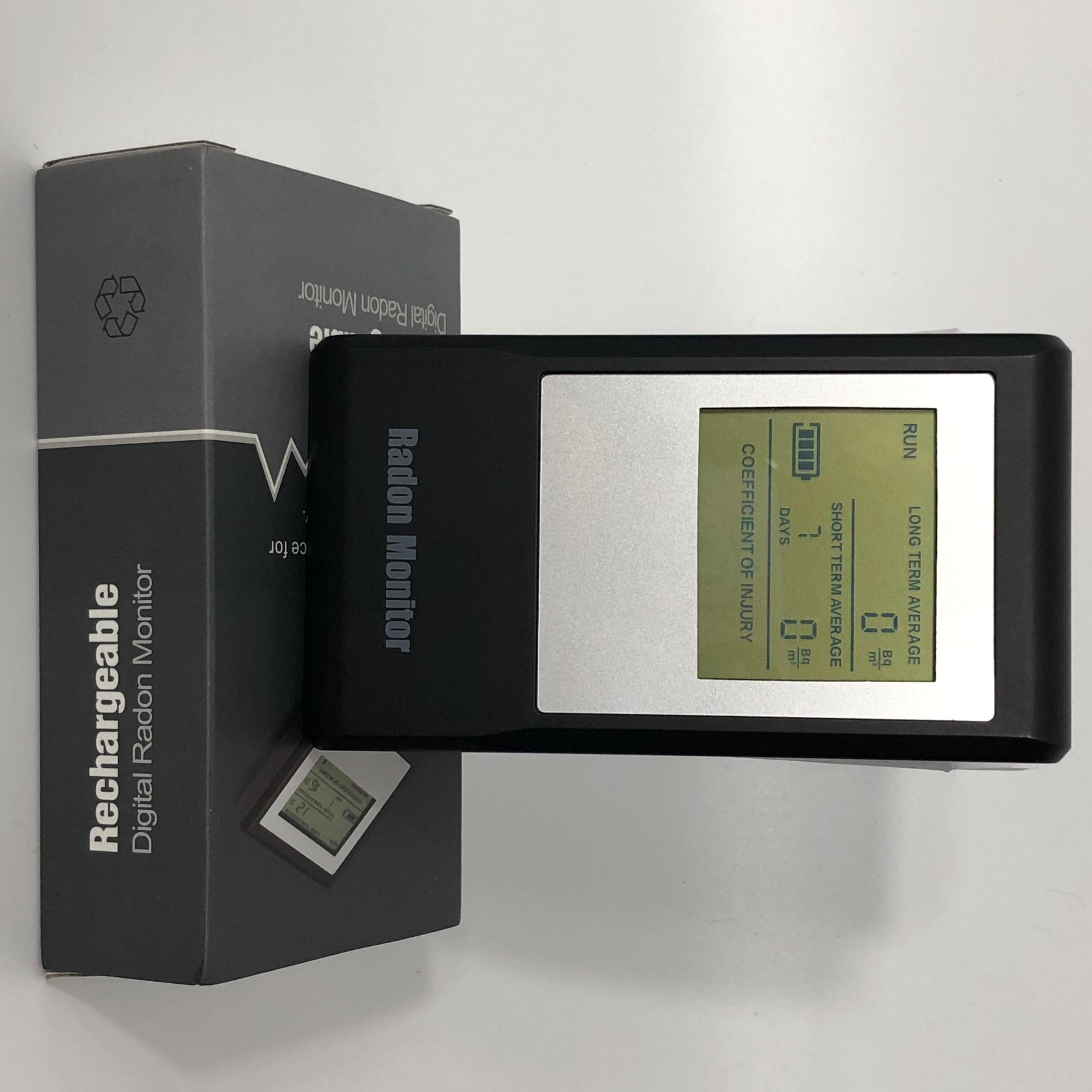 Détecteur de gaz de radon portable avec batterie rechargeable détecteur RH RD-35 affichage lcd numérique détecteur de gaz de radon oeil de radon