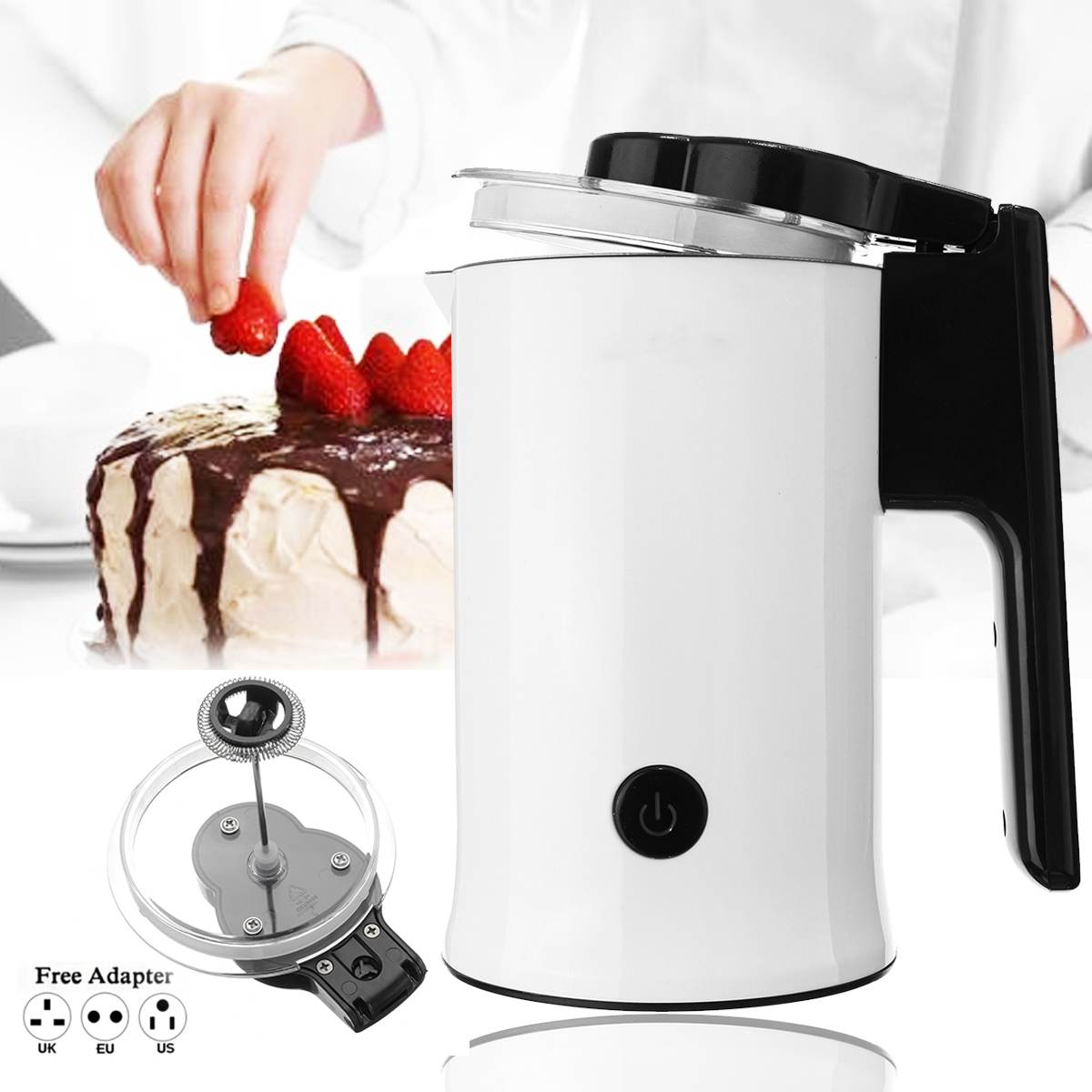 570-630W Automatic Milk Frother with Stainless Steel Container for Soft Foam Cappuccino Electric Coffee Machine Maker Hot/Cool 570-630W Automatic Milk Frother with Stainless Steel Container for Soft Foam Cappuccino Electric Coffee Machine Maker Hot/Cool