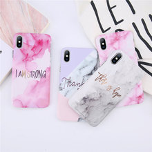 USLION Marble Pattern Phone Cover For iPhone 6 7 8 Plus X XR XS Max Marble Stone Case For iPhone 6 6S Plus Hard Back Cover Coque two tone marble pattern iphone case