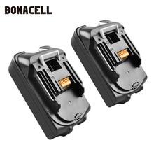 Bonacell For Makita BL1830 18V 2000mAh Power tools battery replacement BL1815 BL1840 LXT400 194204-5 194205-3 194309-1 L10 цена и фото