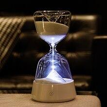 Песочные часы, спальный светильник, Креативные украшения, детский таймер, подарок на день рождения, свадьбу, украшение, аксессуары, песочные часы, таймеры