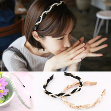 Headband New Arrival Crystal Birthday Hair Accessories Pearl Girls Head Wear Hoop Wedding 1PC Valentines Gift Ornaments(China)