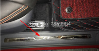 car interior scuff plate door sill trim welcome pedal for 2016 2017 2018 VW Tiguan mk2 European version Rline R line