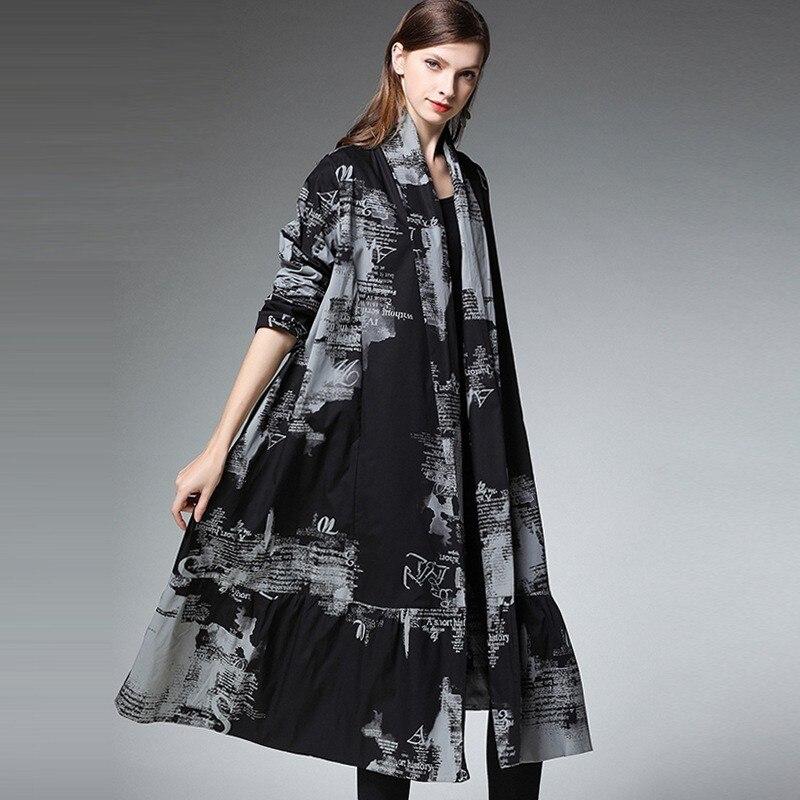 Vintage Negro De Tamaño Camisas Primavera Manga Mujeres Elegante Abrigos Black Chaqueta Suelto Larga Color Abrigo Camisa Plus Mujer 2019 Ra0aAwnH