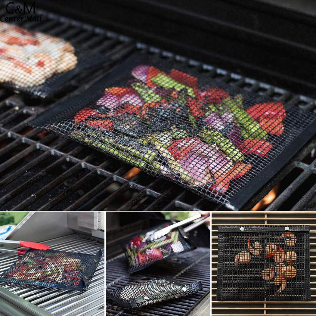 Barbecue Mesh  bbq High Temperature Non-stick Cooking the New Mesh Pad Barbecue everything for the kitchen