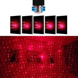Image 4 - FORAUTO COM LED רכב גג כוכב לילה אור מקרן אווירה Galaxy מנורת USB דקורטיבי מנורת מתכוונן מרובה אפקטים של תאורה