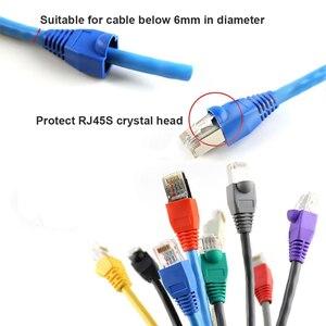 Image 2 - JONSNOW RJ 45 CAT6 CAT5e Adapter Cap Ethernet Network Cable Connector Plugs RJ45 Caps Cat 5 CAT6 protective sleeve multicolour