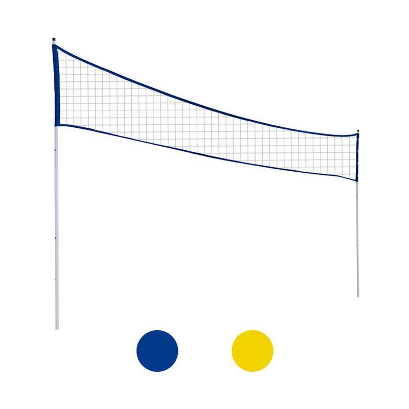 Filet de volley-ball portatif extérieur pliant le filet réglable de Tennis de Badminton de Volleyball avec le poteau de support pour le parc d'herbe de plage extérieur