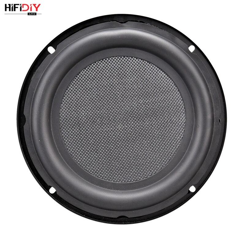 HIFIDIY LIVE 8 inch Bass Speaker Plate Passive Radiator Auxiliary Bass Rubber Vibration Plate Iron frame sound radiation 210mm vibration of orthotropic rectangular plate