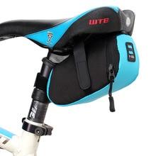 цена на New 1pc 600D Nylon Black Blue Quake-proof Waterproof Cycling Bike Saddle Rear Seat Storage Tail Bag Pouch Bicycle Accessories