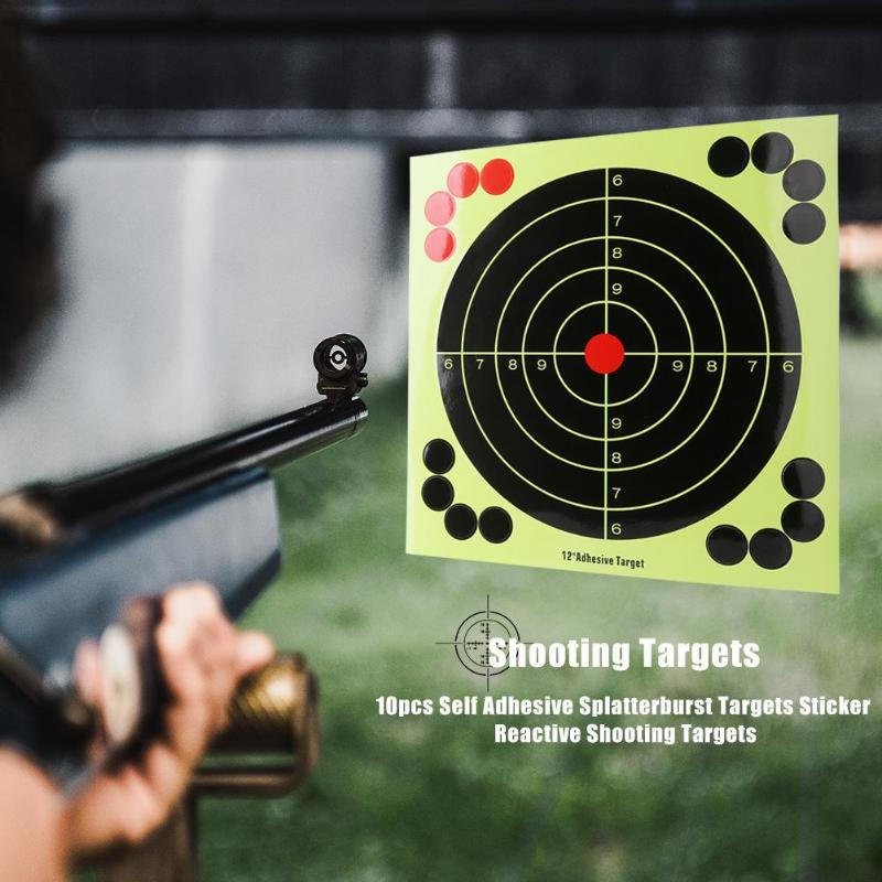 10Pcs Target Stickers Round Self-adhesive Targets Shooting Hunting Archery