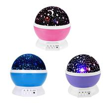 USB Night Light Romantic Starry Sky LED Projector Lamp Creative Party Lighting Decoration Kids Luminous Toys Gifts