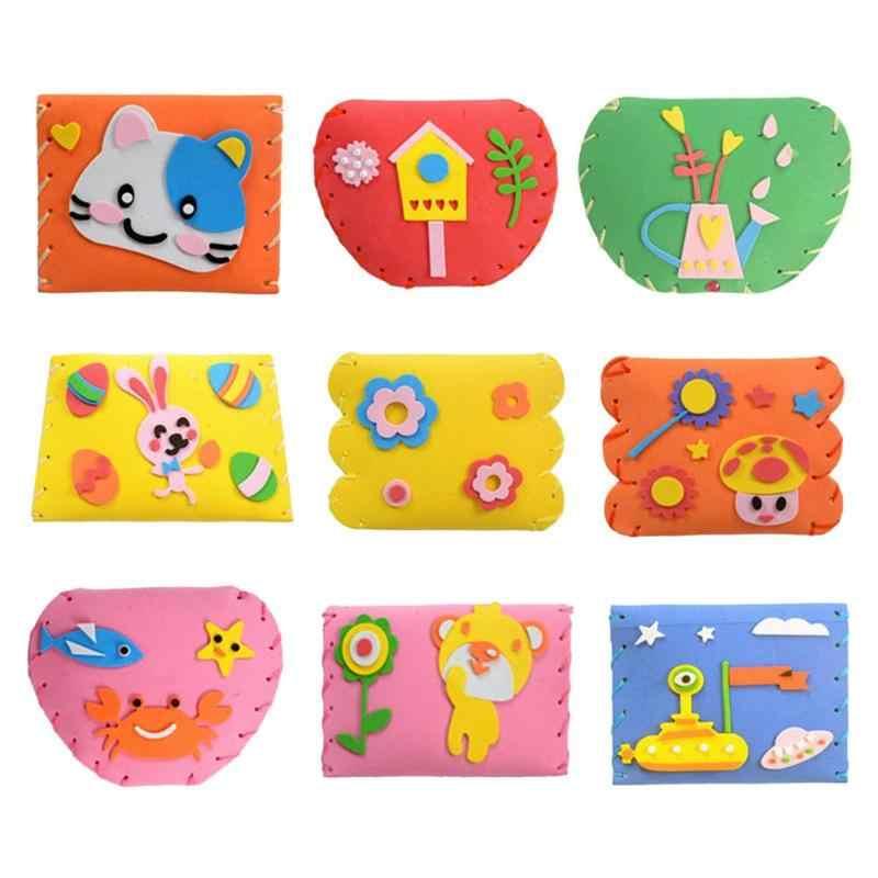 Seni Kerajinan Bunga Diy Kartun Mainan Lucu Buatan Tangan Tas Kain Non Woven Anak Kreatif Hadiah Natal Anak Pendidikan mainan