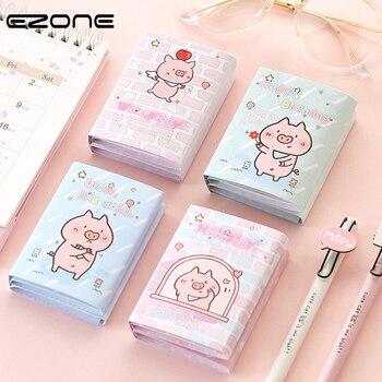 f5c637000fba EZONE seis veces Bloc de notas de dibujos animados lindo Hello Pig notas  adhesivas Rosa cerdo nota almohadillas coreano estudiante papelería Multi-  función ...